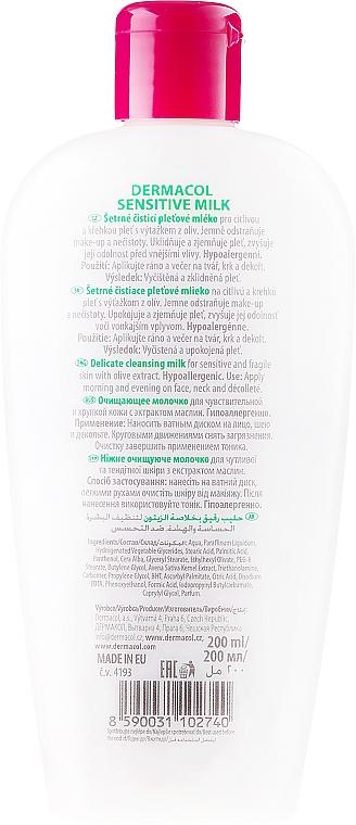 Reinigungsmilch für Gesicht, Hals und Dekolleté mit Olivenextrakt - Dermacol Sensitive Cleansing Milk — Bild N2