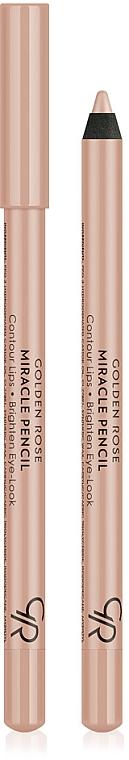 Lippenkonturenstift - Golden Rose Miracle Pencil Contour Lips Brighten Eye-Look