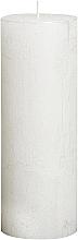 Düfte, Parfümerie und Kosmetik Dekorative Kerze in Zylinderform Metallic White 190/68 mm - Bolsius Candle