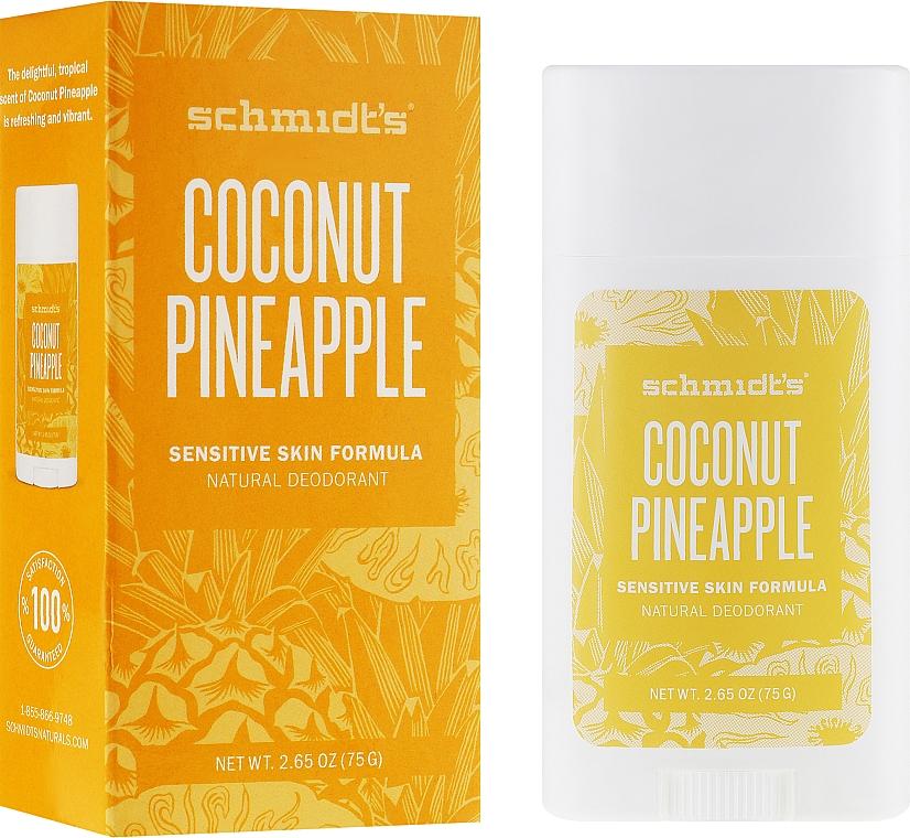 Natürlicher Deostick für empfindliche Haut - Schmidt's Natural Deodorant Coconut Pineapple
