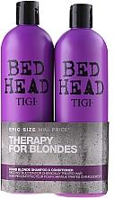 Düfte, Parfümerie und Kosmetik Haarpflegeset - Tigi Bed Head Dumb Blonde (Shampoo/750ml + Conditioner/750ml)