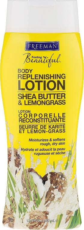 Körperlotion mit Sheabutter und Zitronengras - Freeman Feeling Beautiful Replenishing Body Lotion Shea Butter & Lemongrass — Bild N1