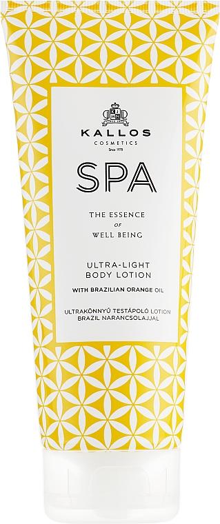Ultraweiche Körperlotion mit brasilianischem Orangenöl - Kallos Cosmetics Spa Ultra Light Body Lotion