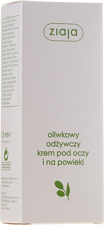 Intensiv pflegende Augencreme mit Olivenextrakt - Ziaja Natural Olive Eye Cream