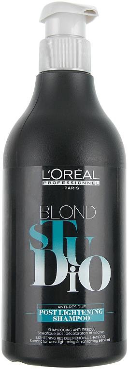Shampoo für aufgehellte Haare - L'Oreal Professionnel Blond Studio Postlightening Shampoo