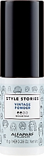 Düfte, Parfümerie und Kosmetik Haarpuder für mehr Volumen Mittlerer Halt - Alfaparf Style Stories Vintage Powder Medium Hold