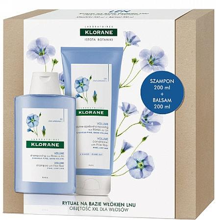Haarpflegeset - Klorane Flax Fiber (Shampoo 200ml + Conditioner 200ml) — Bild N1