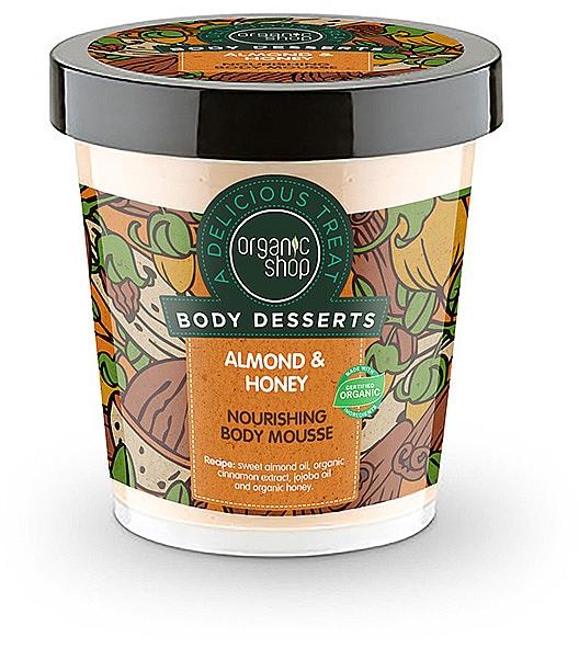 Pflegende Körpermousse mit Bio Mandelöl und Honig - Organic Shop Body Desserts Almond & Honey
