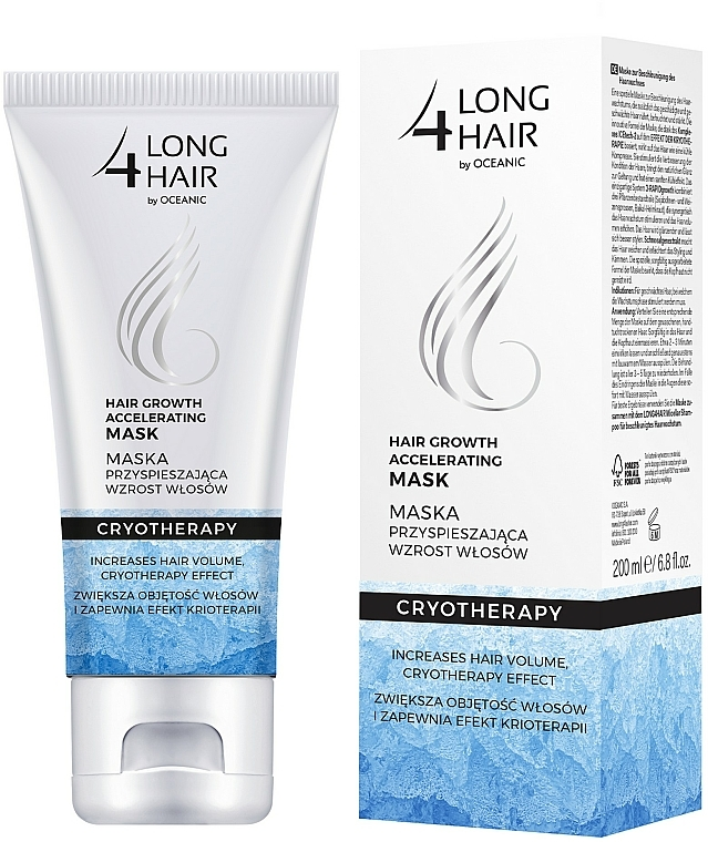 Maske für schnelles Haarwachstum - Long4Lashes Hair Ice Mask
