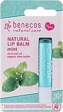 Düfte, Parfümerie und Kosmetik Natürlicher Lippenbalsam mit Minzöl und Sheabutter - Benecos Natural Care Lip Balm Mint