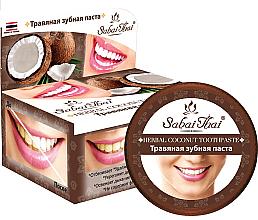 Düfte, Parfümerie und Kosmetik Fluoridfreie natürliche und aufhellende Zahnpasta mit Kokosöl - Sabai Thai Herbal Coconut Toothpaste
