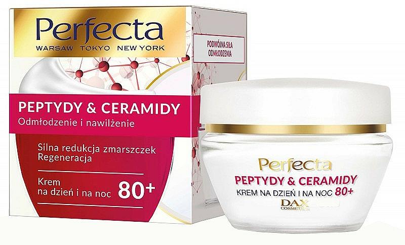 Regenerierende Gesichtscreme für Tag und Nacht mit Peptiden und Ceramiden 80+ - Perfecta Peptydy&Ceramidy