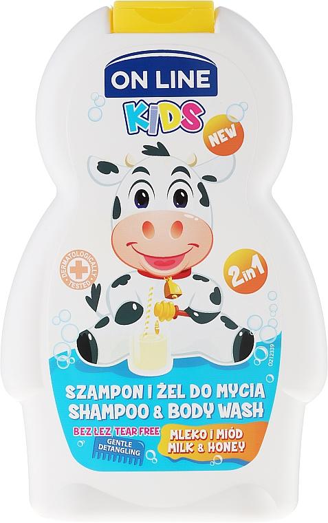 2in1 Shampoo und Duschgel für Kinder mit Milch- und Honigduft - On Line Kids Milk Shampoo & Body Wash