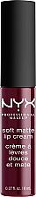 Düfte, Parfümerie und Kosmetik Flüssiger Lippenstift - NYX Professional Makeup Soft Matte Lip Cream