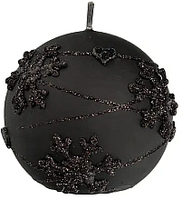 Düfte, Parfümerie und Kosmetik Dekorative Kerze in Kugelform schwarz 12 cm - Artman Snowflake Application
