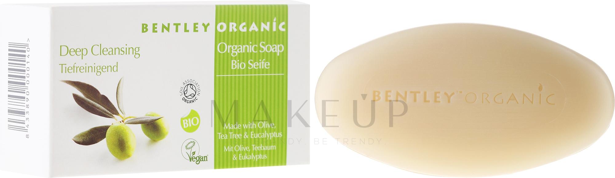 Tiefenreinigende Seife mit Olive, Teebaum und Eukalyptus - Bentley Organic Body Care Deep Cleansing Soap Bar — Bild 150 g