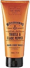 Düfte, Parfümerie und Kosmetik 2in1 Shampoo und Duschgel mit Distel und schwarzem Pfeffer - Scottish Fine Soaps Men's Thistle & Black Pepper Hair Body Wash