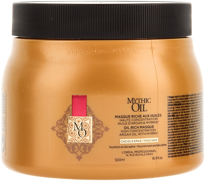 Haarmaske für dickes Haar - L'Oreal Professionnel Mythic Oil Rich Masque For Thick Hair