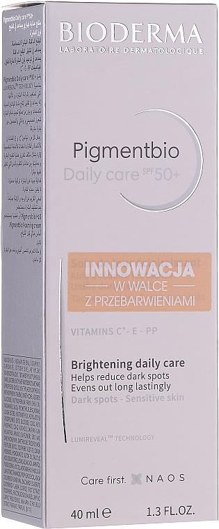 Aufhellende Gesichtscreme gegen Verfärbungen für empfindliche Haut SPF 50+ - Bioderma Pigmentbio Daily Care Brightening Daily Care SPF 50+