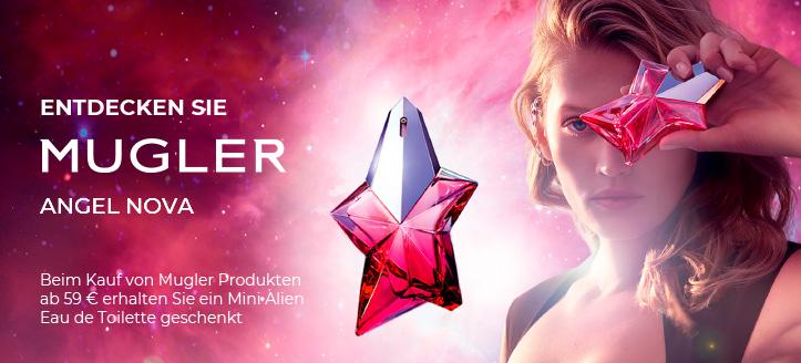 Beim Kauf von Mugler Produkten ab 59 € erhalten Sie ein Mini Alien Eau de Toilette geschenkt