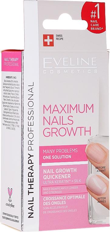 Behandlung zum Nagelwachstum mit Keratin und Seide - Eveline Cosmetics Nail Therapy Professional