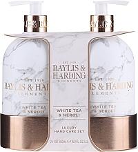 Düfte, Parfümerie und Kosmetik Handpflegeset - Baylis & Harding White Tea & Neroli Hand Care Set (Flüssige Handseife 500ml + Lotion für Hände und Körper 500ml)