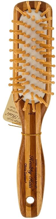 Bambus Massagebürste für Haar klein - Olivia Garden Healthy Hair Small Rect Ionic Massage Brush
