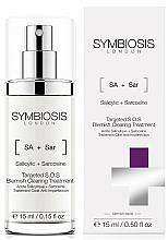 Düfte, Parfümerie und Kosmetik Gesichtsbehandlung gegen Hautunreinheiten mit Salicylsäure und Sarkosin für Aknehaut - Symbiosis London Targeted S.O.S Blemish Clearing Treatment