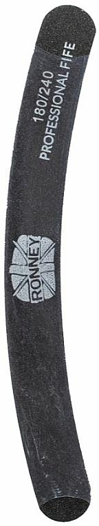 Nagelfeile 180/240 schwarz RN 00253 - Ronney Professional