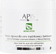 Düfte, Parfümerie und Kosmetik Anti-Akne Algenmaske mit Bambus, grünem Tee und schwarzem Schlamm aus dem Toten Meer - APIS Professional Algae Mask For Acne Skin