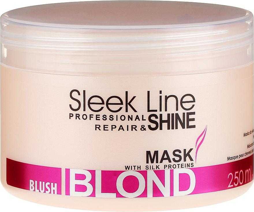 Maske für rosa Farbtöne für blondes, aufgehelltes und graues Haar - Stapiz Sleek Line Blush Blond Mask