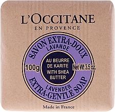 Kosmetikseife mit Sheabutter und Lavendel - L'occitane Shea Butter Extra Gentle Soap-Lavender — Bild N2