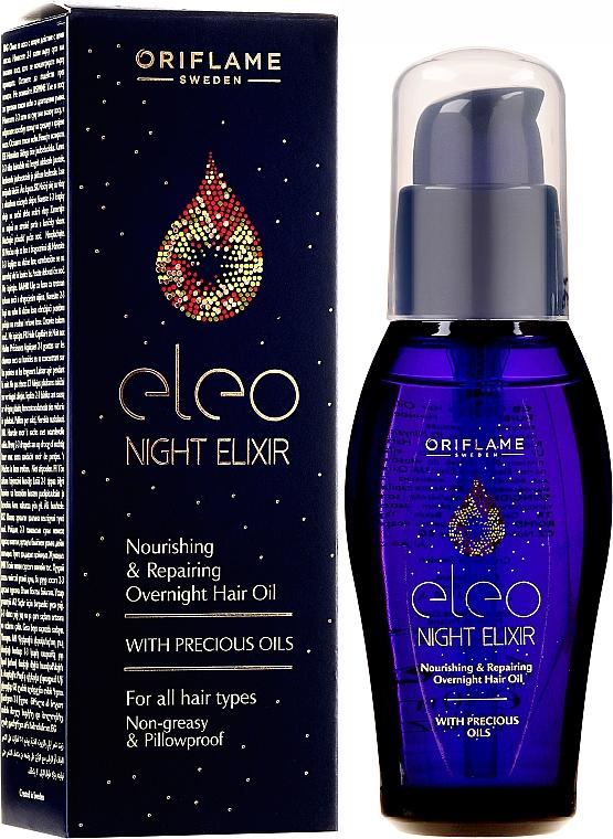 Reparierendes und pflegendes Haaröl für die Nacht - Oriflame Eleo Night Elixir