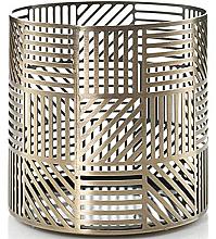 Düfte, Parfümerie und Kosmetik Votivkerzenhalter - Yankee Candle Crosshatch Brass Jar Holder