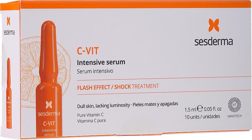 Intensives Gesichtsserum in Ampullen mit 12% reinem Vitamin C - SesDerma Laboratories C-Vit Intensive Serum