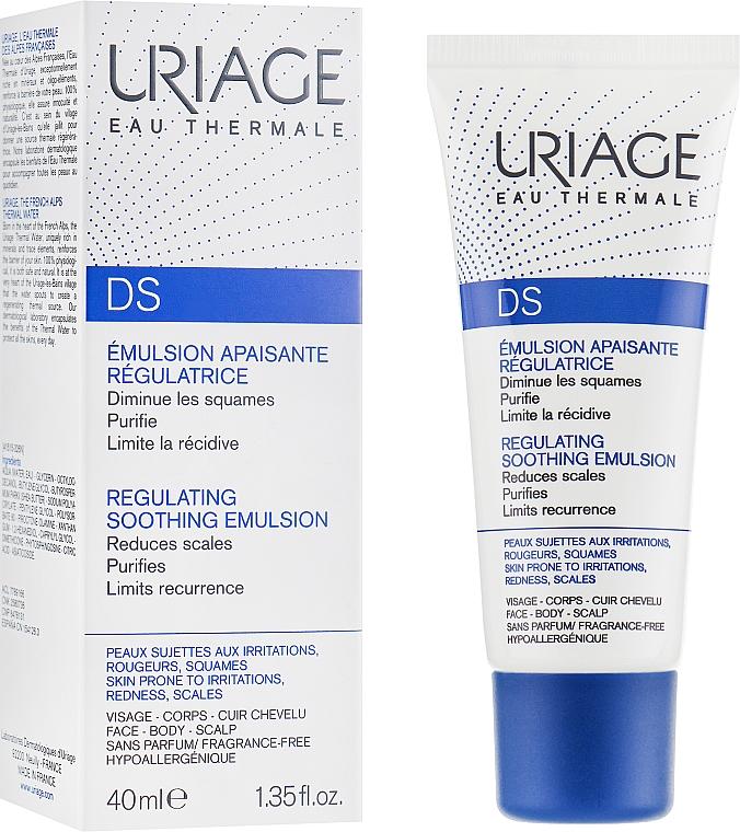 Beruhigende und feuchtigkeitsspendende Gesichtsemulsion gegen Rötungen, Entzündungen und Hautschuppen - Uriage D.S. Emulsion