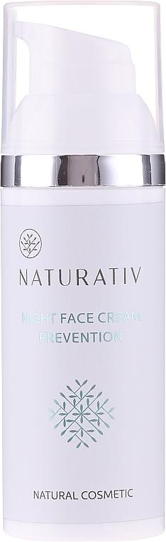 Reparierende und straffende Anti-Aging Nachtcreme für Gesicht und Hals - Naturativ Facial Night Cream 30+