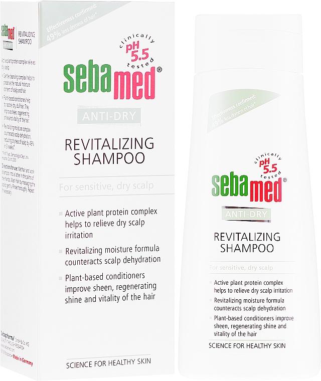 Revitalisierendes Shampoo für trockene, empfindliche Kopfhaut - Sebamed Anti-dry Revitalizing Shampoo