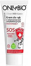 Düfte, Parfümerie und Kosmetik Regenerierende antibakterielle Handcreme - Only Bio Silver Med Care+ SOS Peony Flower Hand Cream