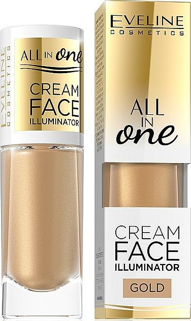 Cremiger Highlighter für das Gesicht - Eveline Cosmetics All In One Cream Face Illuminator
