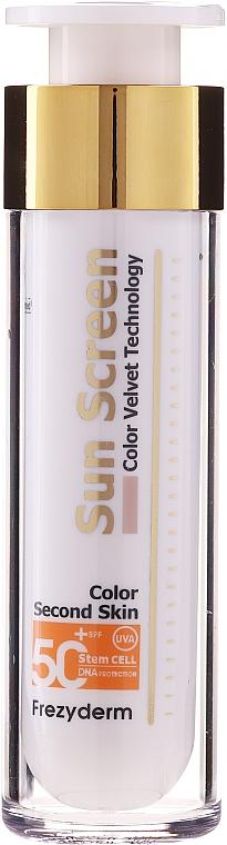 Getönte Sonnenschutzcreme für das Gesicht SPF 50+ - Frezyderm Sun Screen Color Velvet Face Cream SPF 50+