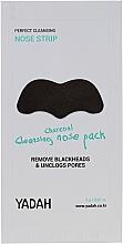 Düfte, Parfümerie und Kosmetik Porenreinigende Nasenpatches mit Aktivkohle gegen Mitesser - Yadah Charcoal Cleansing Nose Pack