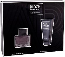 Düfte, Parfümerie und Kosmetik Antonio Banderas Seduction in Black - Duftset (Eau de Toilette 50ml + After Shave Balsam 50ml)