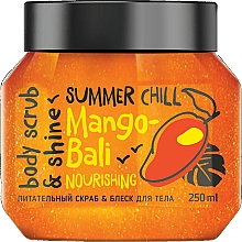 Düfte, Parfümerie und Kosmetik Pflegendes und schimmerndes Körperpeeling mit Mangoöl und Kokosnuss - MonoLove Bio Mango-Bali Nourishing