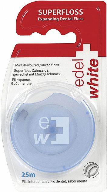 Gewachste Zahnseide mit Minzgeschmack 25 m - Edel+White Expanding Floss