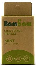 Düfte, Parfümerie und Kosmetik Biologisch abbaubare Zahnseide mit frischem Minzgeschmack 2x50m - Bambaw (Nachfüller ohne Spender)