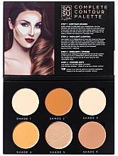 Düfte, Parfümerie und Kosmetik Highlighter Gesichtspalette - Sosu by SJ Magnetic Refillable Complete Contour Palette