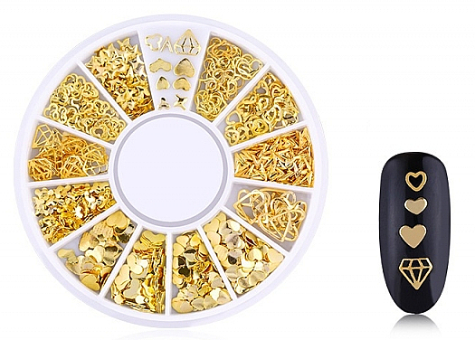 Nageldekoration Gold-1 - Deni Carte — Bild N1