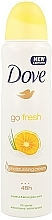 Düfte, Parfümerie und Kosmetik Deospray Antitranspirant - Dove Go Fresh Anti-Perspirant Deodorant Spray