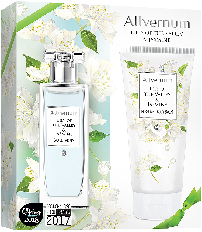 Allvernum Lily Of The Valley & Jasmine - Duftset (Eau de Parfum 50ml + Körperbalsam 200ml)